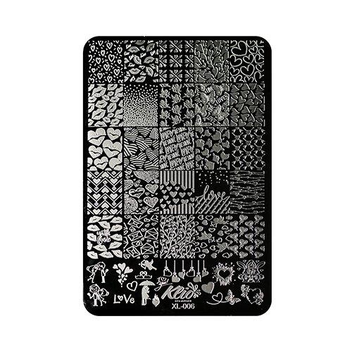 Трафарет KLIO Professional №006 11 х 15 см black