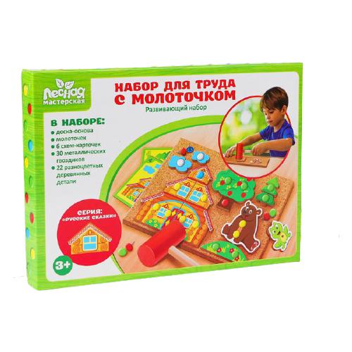 Купить Развивающая игрушка Лесная мастерская Теремок разноцветный, Развитие мелкой моторики
