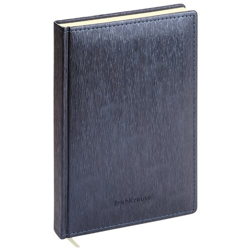 Купить Ежедневник ErichKrause Eclisse недатированный, искусственная кожа, А5, 168 листов, темно-синий металлик, Ежедневники, записные книжки