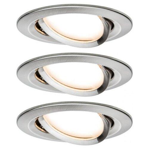 Фото - Встраиваемый светильник Paulmann 93447 3 шт встраиваемый светильник paulmann 92521 3 шт