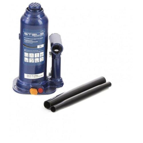 Домкрат бутылочный гидравлический Stels 51161 (3 т) синий