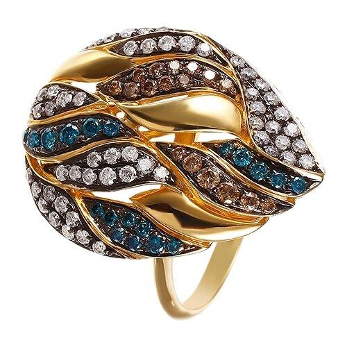 цена на JV Кольцо с 89 бриллиантами из жёлтого золота R28036-KO-DL-DN-YG, размер 17.5