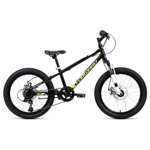 Подростковый горный (MTB) велосипед FORWARD Unit Pro 20 Disc (2020) черный 10.5 (требует финальной сборки)