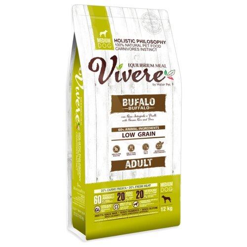 Сухой корм для собак Vivere буйвол 12 кг (для средних пород)