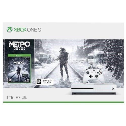 Игровая приставка Microsoft Xbox One S 1 ТБ белый + Metro: Exodus