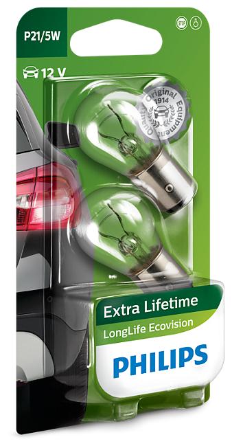 Лампа автомобильная накаливания Philips LongLife EcoVision 12499LLECOB2