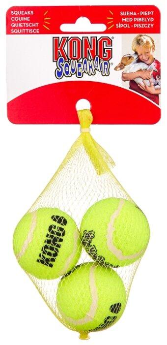 Мячик для собак KONG Air теннисный маленький, 3 шт (AST3)