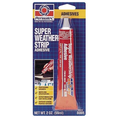 Клей универсальный PERMATEX Super Weatherstrip Adhesive 80638 0.059 л permatex pr 82191 super glue