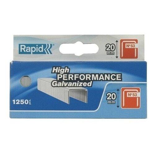 Скобы Rapid 11894301 тип 53 для степлера, 20 мм степлер ручной rapid m20r fun to fix 23600800