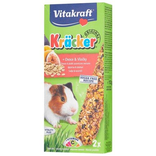 Лакомство для грызунов Vitakraft Крекеры Original с фруктами и хлопьями 112 г