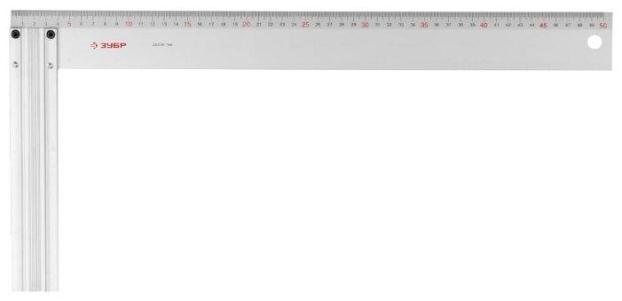 Строительный угольник ЗУБР 34395-50 500x50 мм