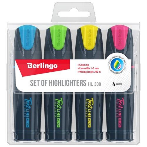 Купить Berlingo Набор текстовыделителей Textline HL300, 4 шт. (T3020), Маркеры
