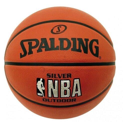 Баскетбольный мяч Spalding NBA Silver, р. 7 оранжевый spalding nba 44