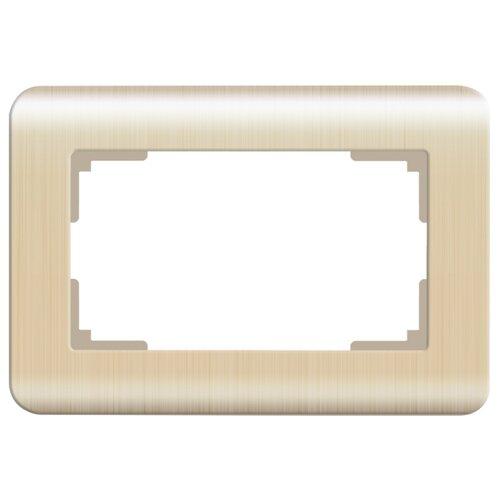 Рамка 1п Werkel WL12-Frame-01-DBL, шампань рамка 1п werkel wl01 frame 01 dbl белый