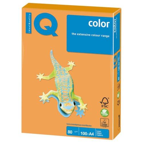 Фото - Бумага IQ color A4 NEOOR 80 г/м² 100 лист. оранжевый неон 1 шт. бумага a4 250 шт iq color cr20 кремовый 1 шт