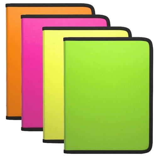 Купить ErichKrause Папка на молнии Diagonal Neon A5+, пластик (50349) в ассортименте, Файлы и папки
