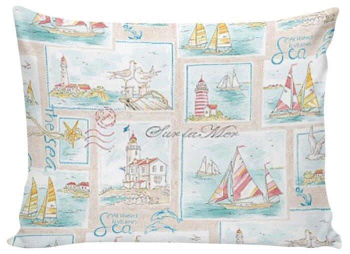 Комплект наволочек Сказка Морской пейзаж на молнии, перкаль 70 х 70 см