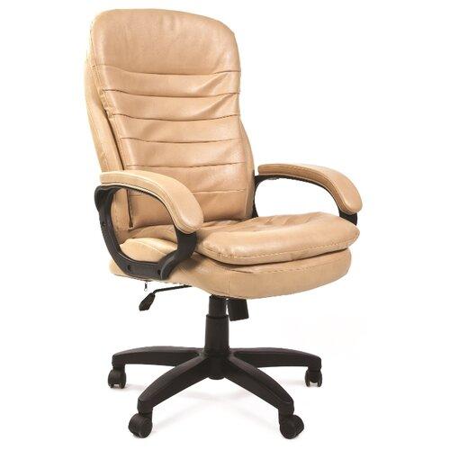 Фото - Компьютерное кресло Chairman 795 LT для руководителя, обивка: искусственная кожа, цвет: бежевый компьютерное кресло chairman 668 lt для руководителя обивка искусственная кожа цвет черный бежевый