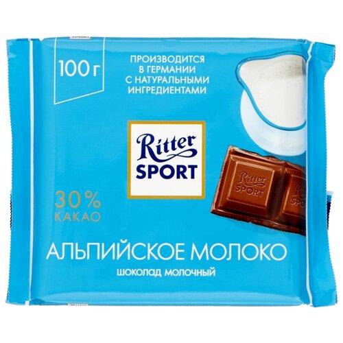 Шоколад Ritter Sport Альпийское молоко молочный, 100 г
