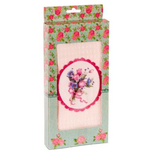 Florento Полотенце Цветы кухонное 50х60 см розовый