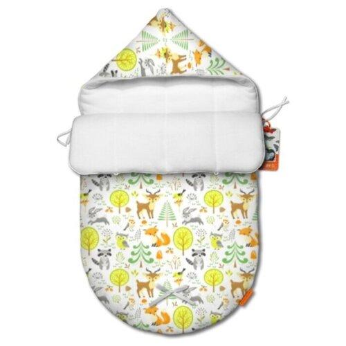 Купить Зимний конверт для новорожденного QuQuBaby Сказочный лес, Конверты и спальные мешки