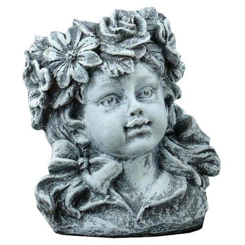 Ваза Хорошие сувениры Девочка - цветочек (5312208/5312209), серый