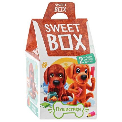 Жевательный мармелад Sweet Box Пушистики Щенята 3 с двумя игрушками 10 г конфитрейд дисней мармелад жевательный с игрушкой 5 г