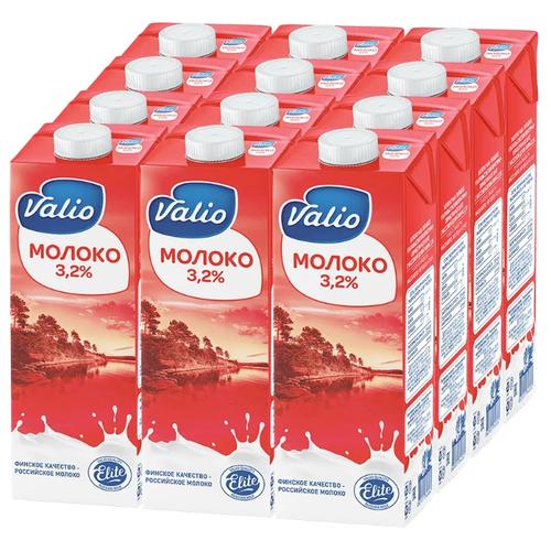 Молоко Valio ультрапастеризованное 3.2%, 12 шт. по 1 л