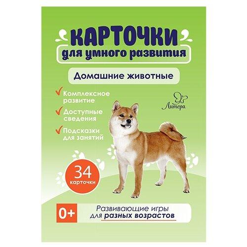 Фото - Набор карточек Литера Домашние животные 15.5x10.5 см 34 шт. набор карточек умка умные игры домашние животные 15 7x10 7 см 32 шт