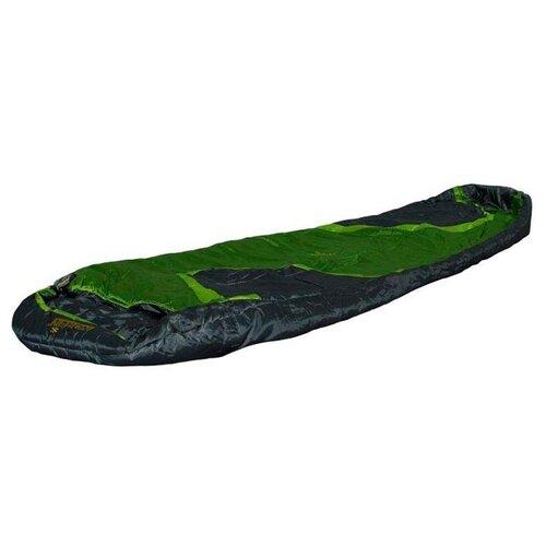 Спальный мешок NORFIN Scandic 350 черный/зеленый с правой стороны