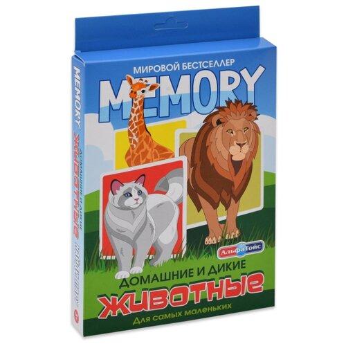 Настольная игра Альфа Тойс Memory Домашние и дикие животные, Настольные игры  - купить со скидкой