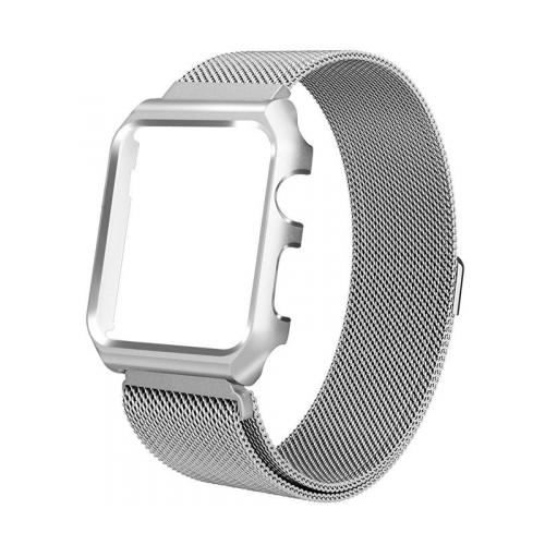 Купить CARCAM Ремешок для Apple Watch 42mm One Body Milanese Loop Металл серебро