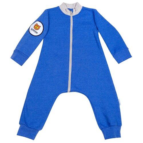 Купить Комбинезон Bambinizon размер 80, синий меланж, Комбинезоны