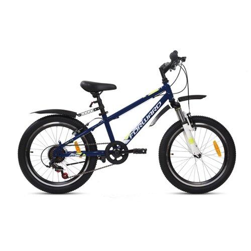 Подростковый горный (MTB) велосипед FORWARD Unit 20 2.0 (2020) синий 10.5 (требует финальной сборки) подростковый горный mtb велосипед forward dakota 24 1 0 2020 черный 13 требует финальной сборки