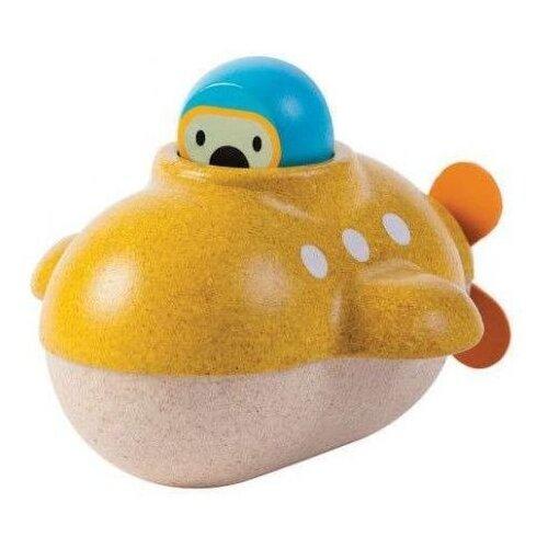 Фото - Игрушка для ванной PlanToys Подводная лодка (5669) желтый/бежевый/голубой игрушка для ванной funny ducks ныряльщик уточка 1864 желтый оранжевый голубой