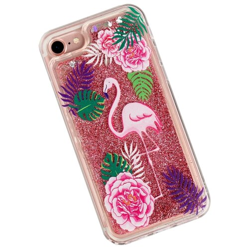 Чехол Арт Узор 3899197 для Apple iPhone 7 фламинго фото