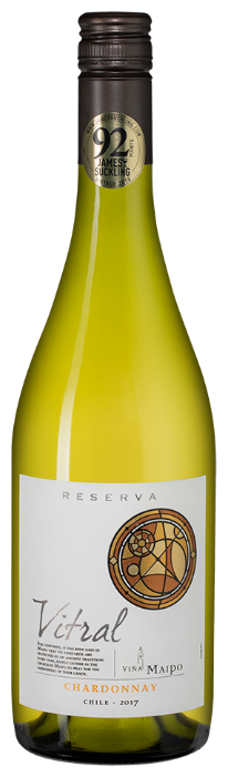 Вино Vina Maipo Vitral Chardonnay Reserva, 2017, 0.75 л
