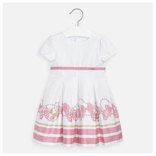 Купить Платье Mayoral размер 98, белый/розовый, Платья и сарафаны