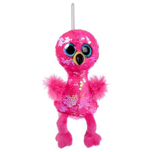 Купить Игрушка мягкая Фламинго из пайеток 15см, Мульти-Пульти, Мягкие игрушки