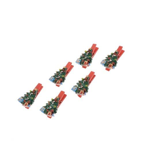 Набор елочных игрушек Magic Time Елочки с подарками (41818) зеленый/красный