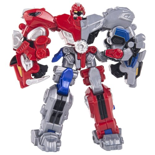 Трансформер YOUNG TOYS Metalions Auto Changer Cross Attacker красный/синий/серый трансформер young toys metalions ursa серый
