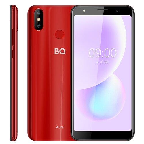 Смартфон BQ 6022G Aura, красный смартфон bq 6022g aura фиолетовый