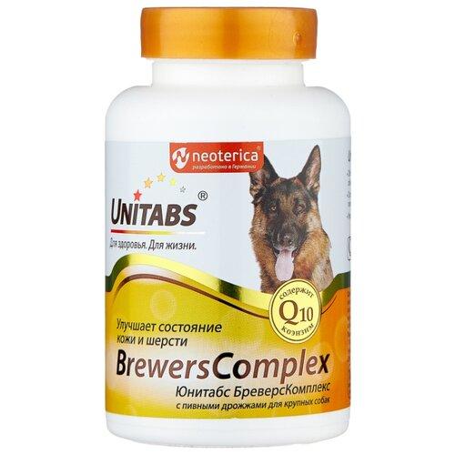 Добавка в корм Unitabs BrewersComplex с пивными дрожжами для крупных собак 100 шт. добавка в корм unitabs prebiotic для кошек и собак 100 шт