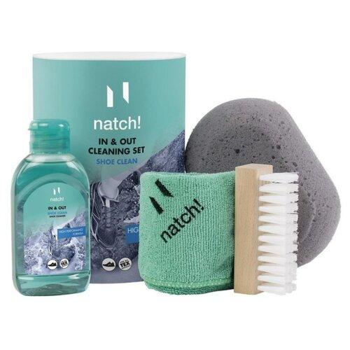 Natch! Набор для чистки спортивной обуви IN & OUT(конц., щётка, губка, салфетка)
