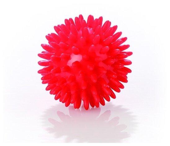 Купить Мяч массажный игольчатый (диаметр 7 см) ТРИВЕС М-107 цвет красный по низкой цене с доставкой из Яндекс.Маркета