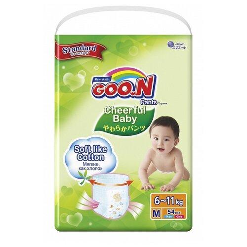 Купить Goo.N трусики Сheerful Baby M (6-11 кг), 54 шт., Подгузники