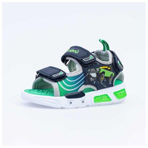 Сандалии КОТОФЕЙ размер 23, 12 синий/зеленый