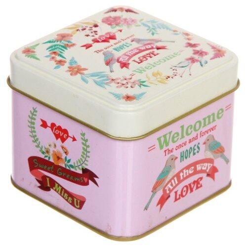 """Zheng DA HARDWARE Банка для продуктов """"Птички"""" 7.5*7.5*6.5 см розовый"""