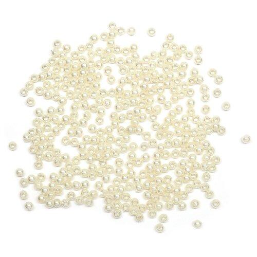 Купить Бусины круглые, пластик, 3 мм, упак./20 гр., 'Астра' (003 NL), Astra & Craft, Фурнитура для украшений
