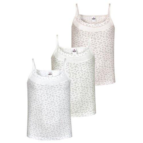 Купить Майка BAYKAR 3 шт., размер 170/176, белый/молочный/розовый, Белье и купальники